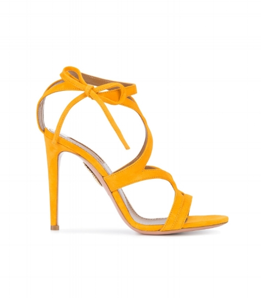 These suede Aquazzura sandals are a great way to finish any outfit from casual jeans to a boho dress.