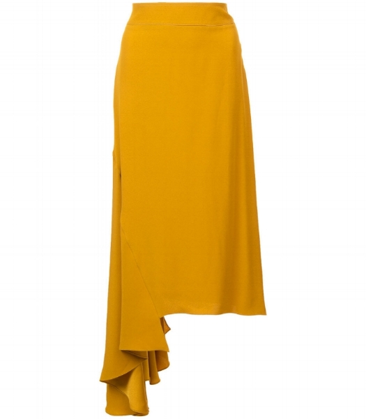This Marni asymmetric ruffled skirt has the right amount of trend for its otherwise classic shape. A perfect office hit this autumn.