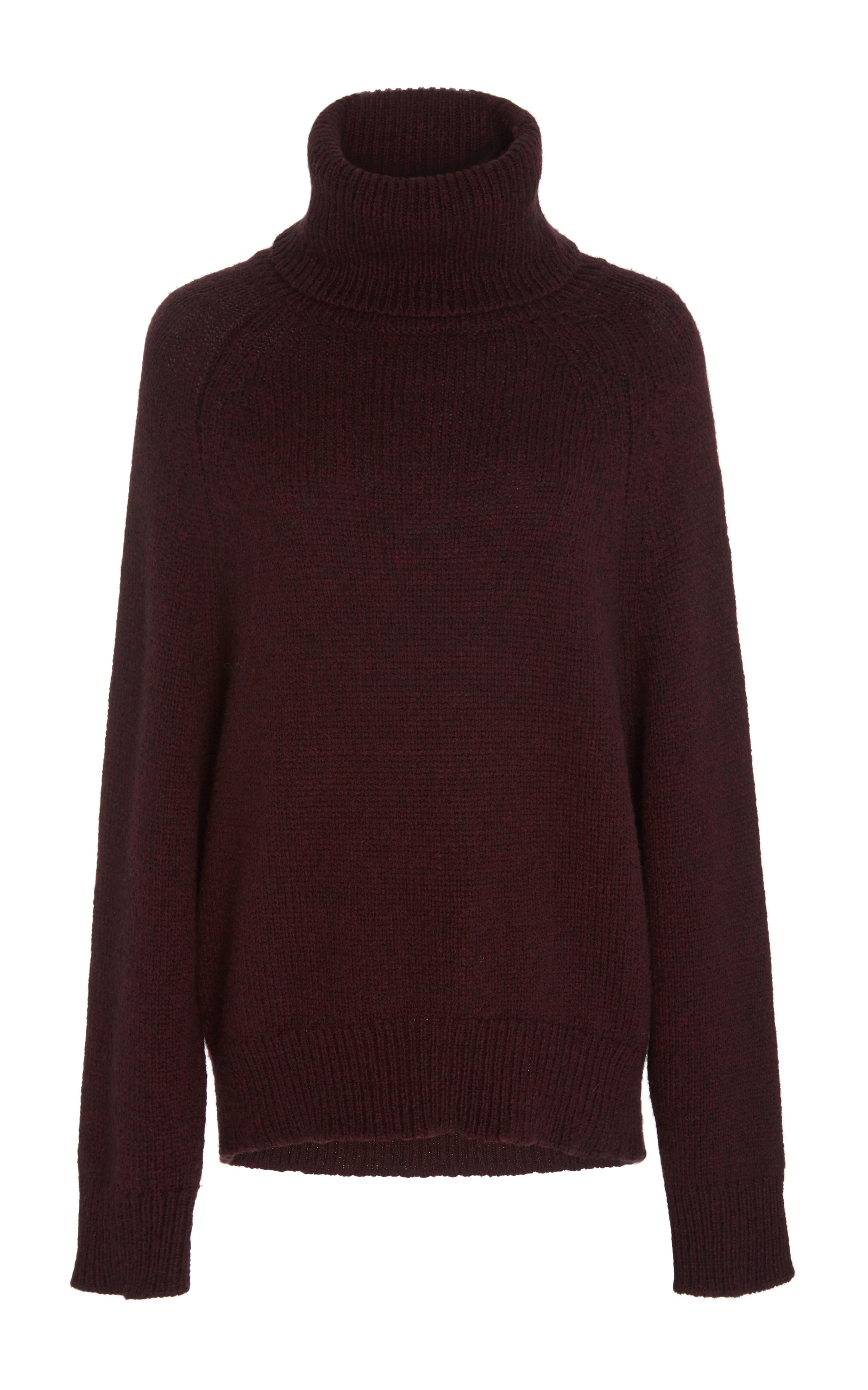 Louche and oversized, this Nili Lotan sweater answers my call for comfort. Super cool with leather trousers and easy for the weekend with casual jeans. I love the richness of this colour and the ribbed stitch details.