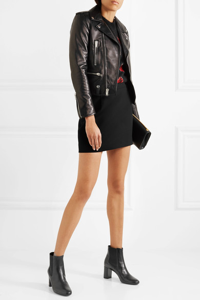 Saint Laurent Loulou Leather Ankle Boot