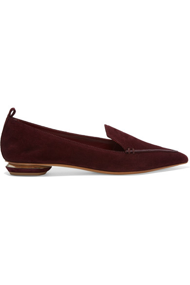 Can You Give Me Some Colour? - 1. These are the most comfortable shoes you will wear2. The luxurious burgundy is a perfect non-colour colour working with all the shades and colour tones in your wardrobe3. The suede is super soft and flexible on your foot. Feels like slippers and looks lush and rich in the burgundy vs flat in black3. The heels design makes this traditional shoe interesting and contemporary