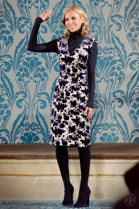 """AW13 Runway 'It all centers around the idea of 24-hour dressing — special pieces to wear from day to evening."""" — Tory Burch.jpg"""
