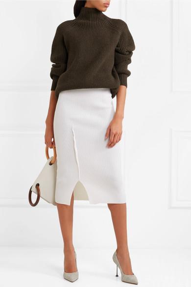 Victoria Beckham,Ribbed wool turtleneck sweater -£795