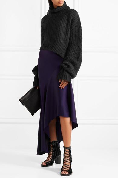 Ann Demeulemeester,Asymmetric chunky-knit turtleneck sweater - £425