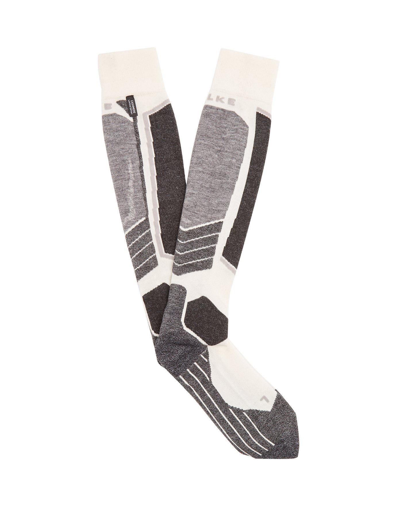 FALKESK2 ski socksWas £89 Now £62 - It is really quite hard to keep the sex factor up while talking about sweat-wicking, and antibacterial qualities, which is why well coordinated,sleek,close-fitting ensembles in timeless palettes are key. These socks, in their muted tones, are hyper-functional and as elegant as ski socks get.
