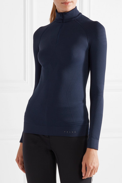 FALKE ERGONOMIC SPORT SYSTEMStretch-knit top & LEGGINGS - TOP £70The perfect base-layer, constructed from stretch-knit materials that wick away moisture and regulate your temperature.I love the stand collar which keeps drafts from shooting down your neck while you race down the slopes. The navy is timeless and makes you feel a little bit like James Bond.LEGGINGS £60These stretchy moisture-wicking leggings are the perfect accompaniment with a close fit for optimum comfort.
