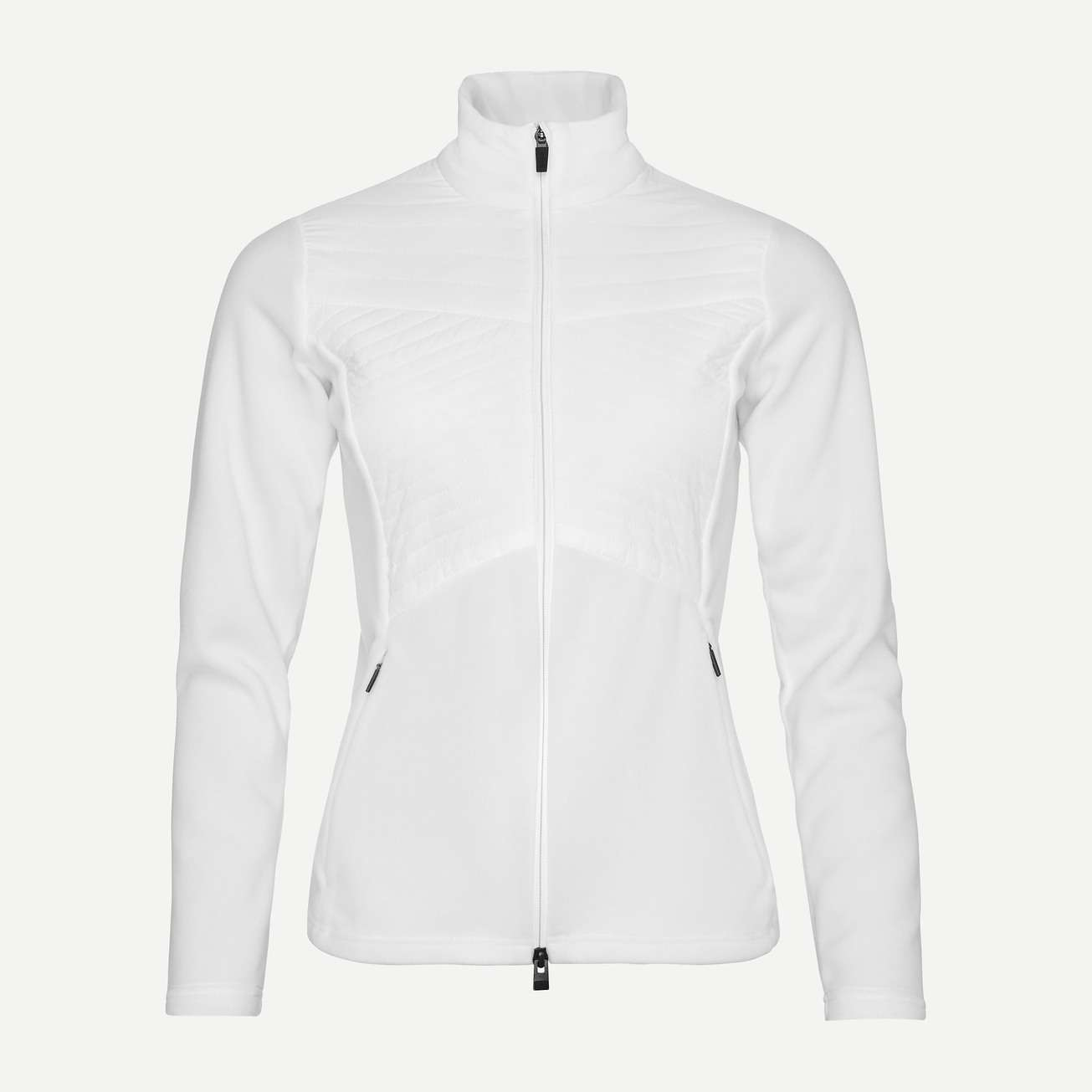 Kjus Scylla Midlayer Jacket£200 - This midlayer is my top pick because of its slim-lines,sleek aesthetic, colour pairing versatility and superior warmth with 3D quilting for exceptional insulation. You will look and feel chic, stylish and warm.