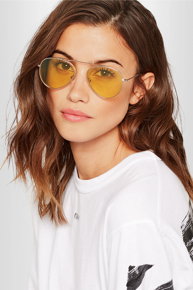 ILLESTEVADorchester Aviator style sunglasses - £170These are as cool as they are lightweight. Equally as good slope-side or beach-side, these frames are perfect for a ski trip, with yellow tinted lenses and plastic nose pieces. Trust me, you don't want metal sitting against your nose in the cold.