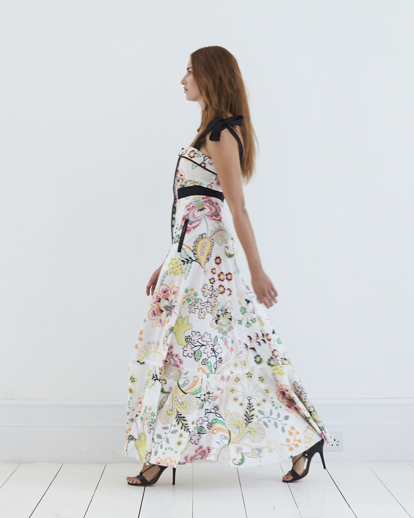 Olivia Print Maxi Dress, sensual and sexy with the perfect amount of leg through the front slit.