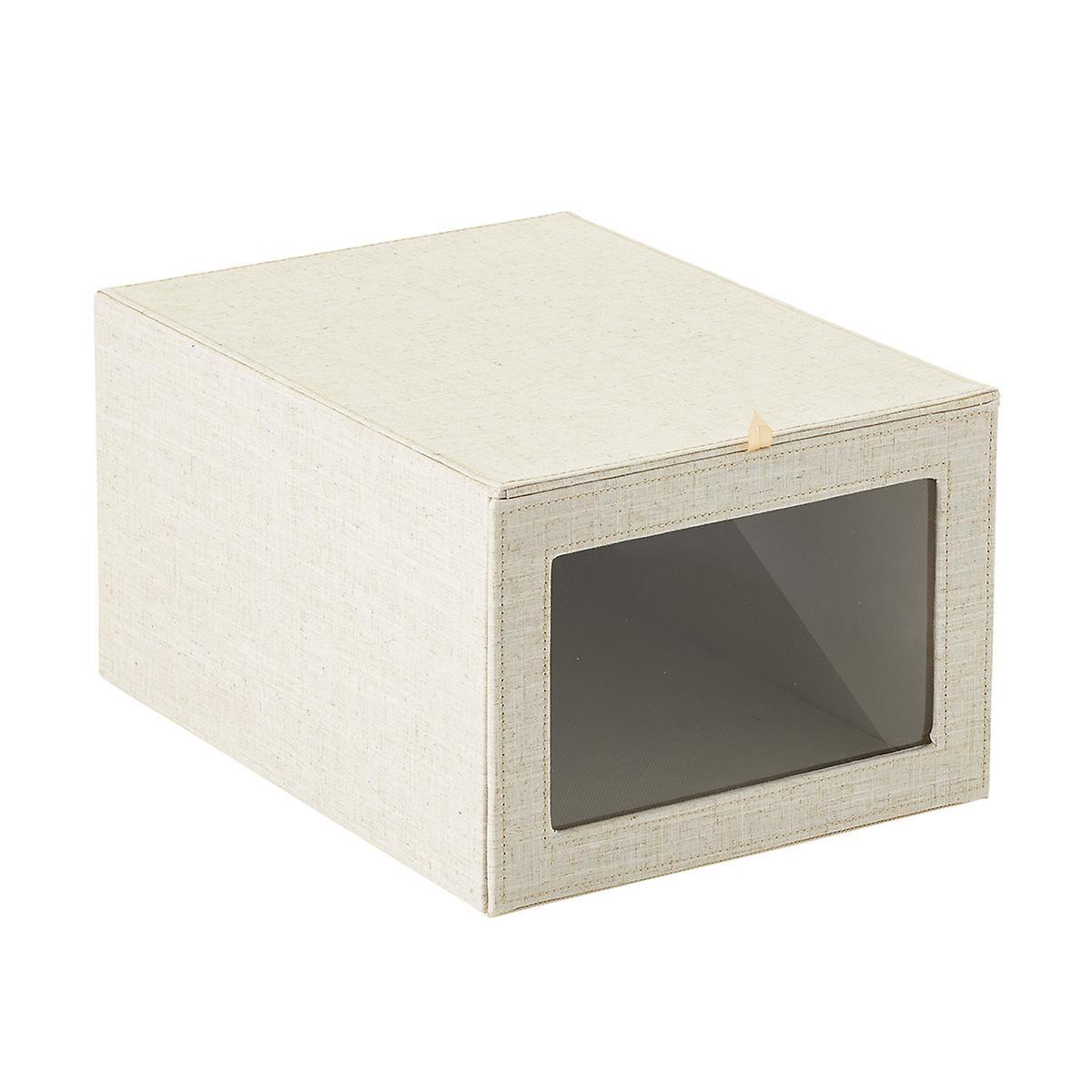 Linen Drop-Front Shirt Box