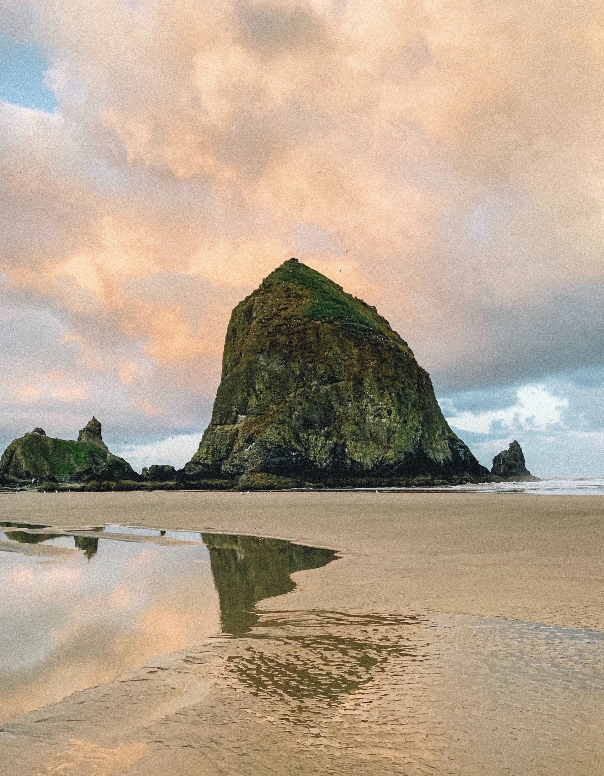 Pictured: Haystack Rock at Cannon Beach, OR