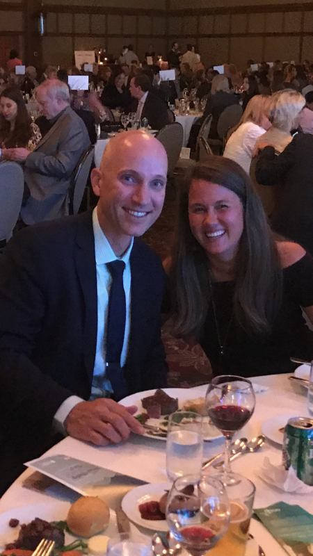 Jason and Jayme Ray pose for a picture at the Award Dinner
