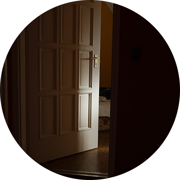An image of an open door