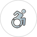 Transition To Community Icon with Person Using a Wheelchair.png