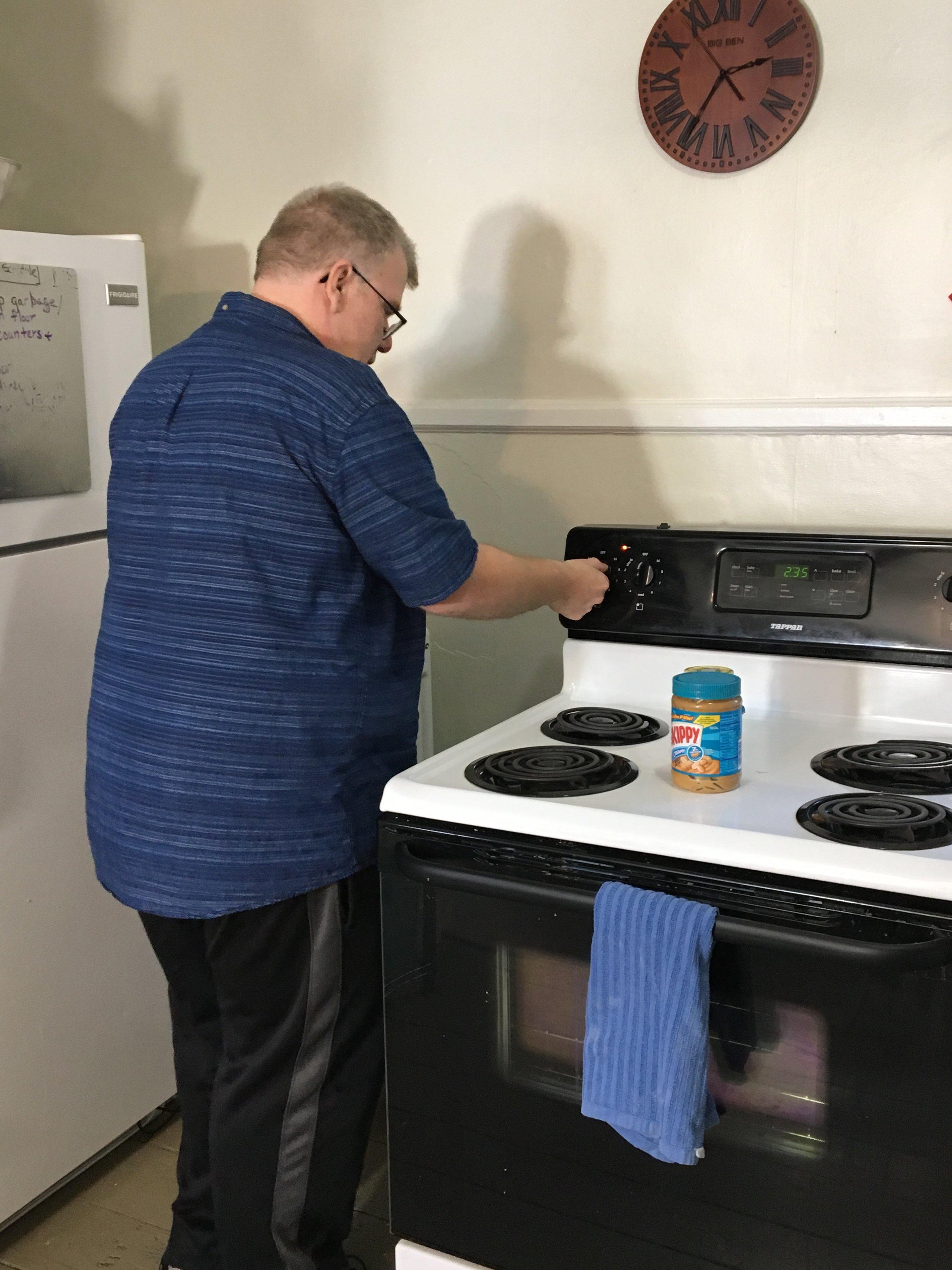 Steve enjoys cooking for himself.