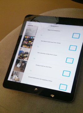 Bryan's cleaning checklist on a tablet.png