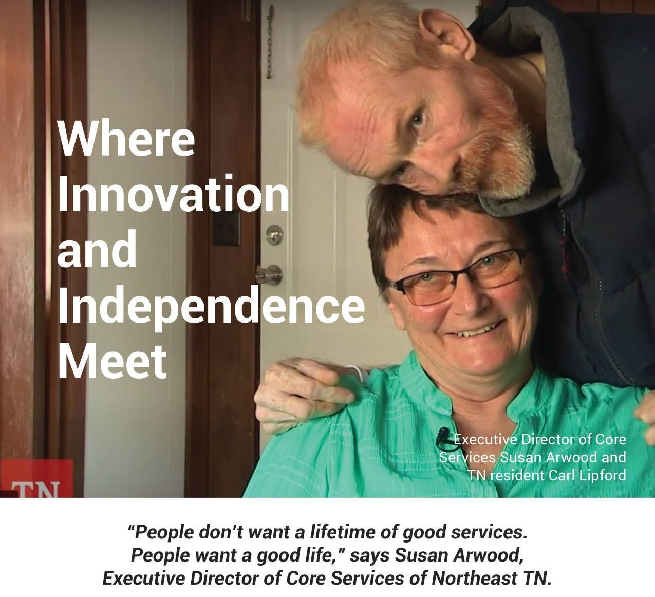 Part of  Simply Home's presence at the 2018 annual TNCO conference was telling the story of Carl, who uses  Simply Home technology and is finally able to live on his own.