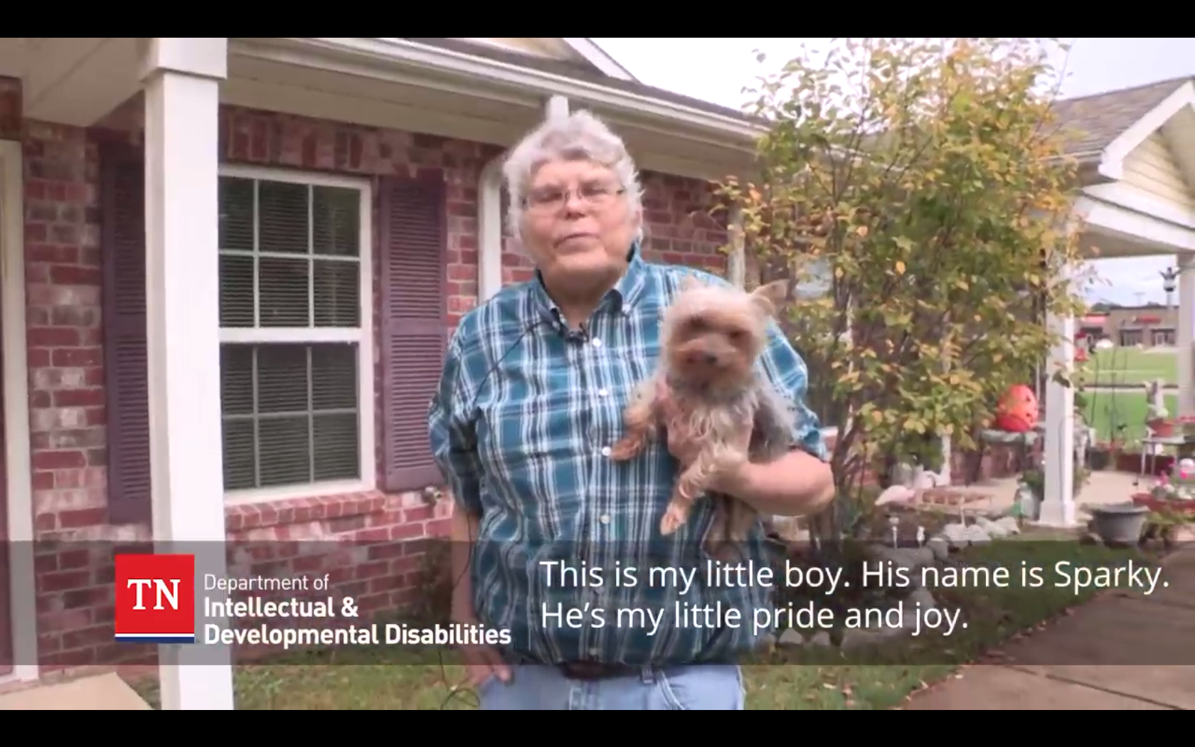 Image preview of video: Gerald with his house and his dog