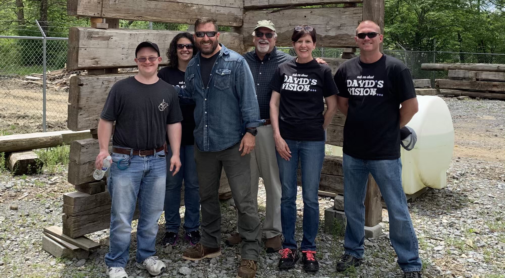 David, his mother Becky, his professor Dr. Kelly R. Kelley, and SimplyHome CEO Allen Ray Meet with Barnwood Builders in West Virginia.