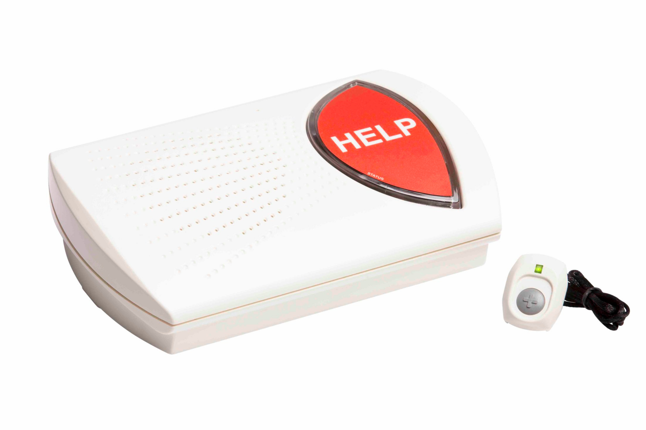 Cellular PERS unit with personal help button.