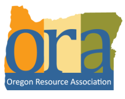 The logo of the Oregon Resource Association.