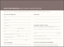 Account Application