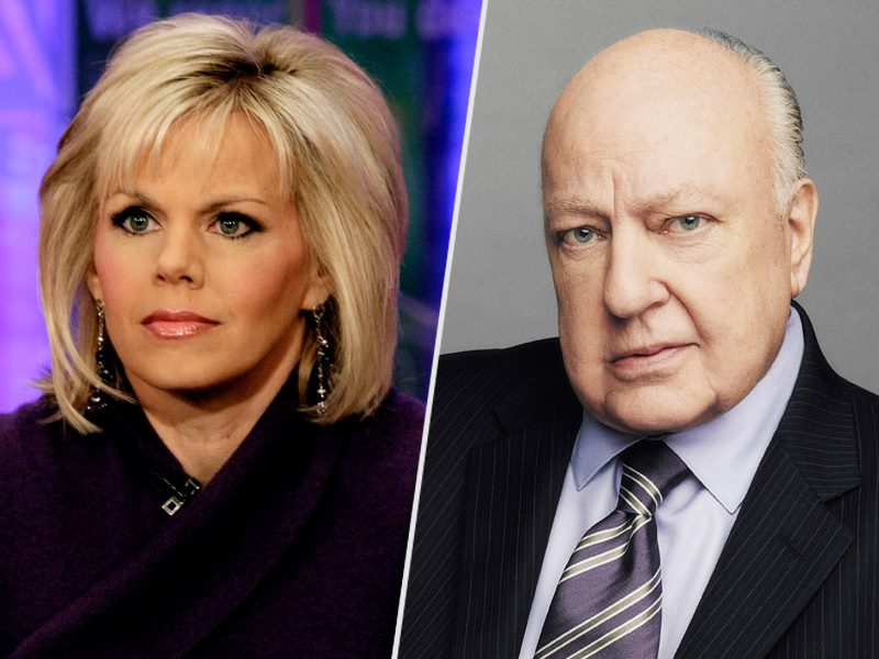 Left - Gretchen Carlson - Right -Roger Ailes