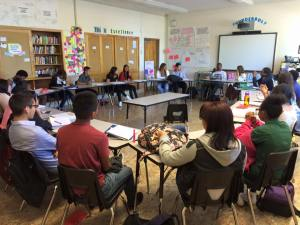 Students in Manual High School's AP English Language and Composition course (Fall 2015).