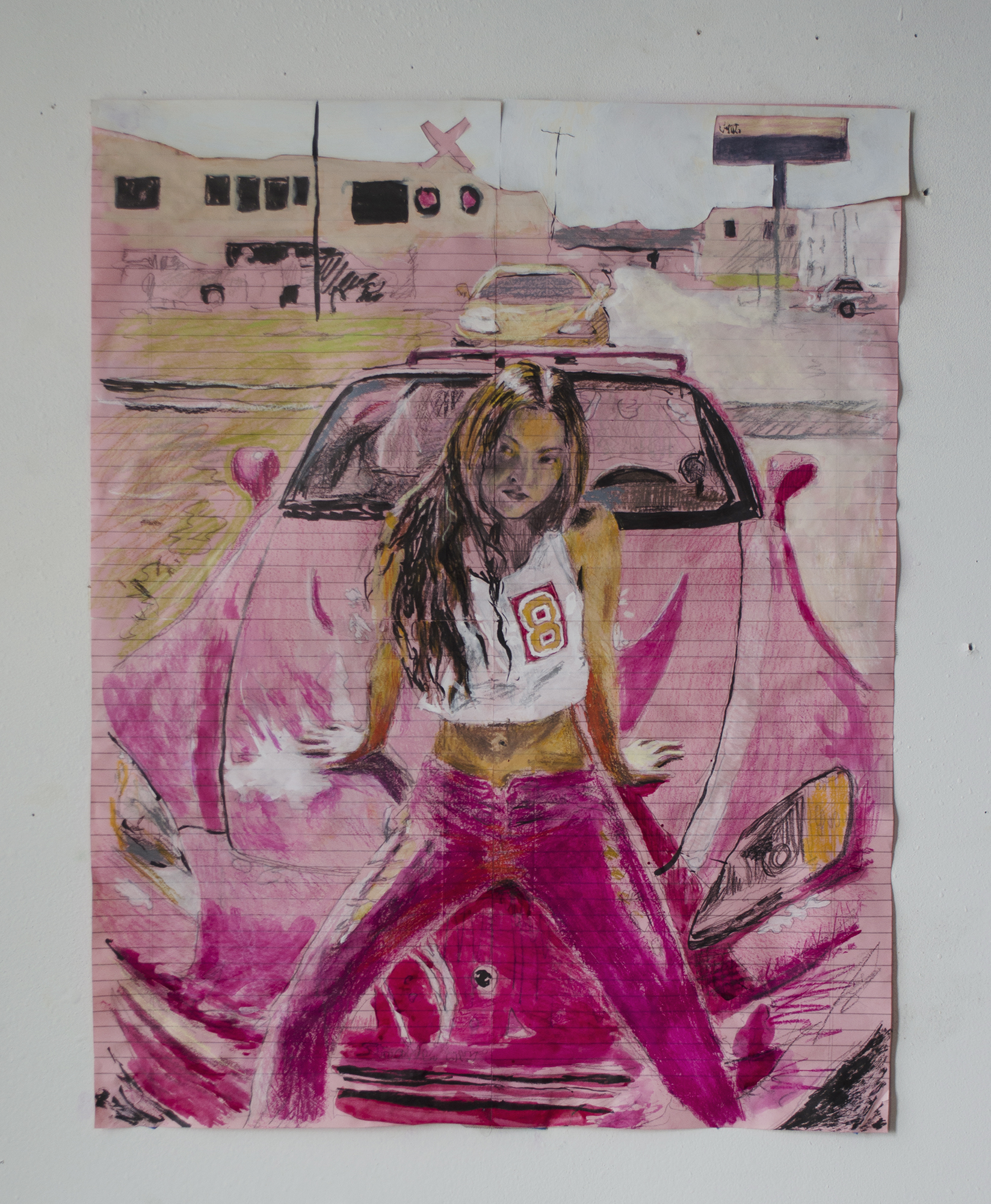 Gaijin Girl   Pencil, ink, and paper collage on legal paper  2016