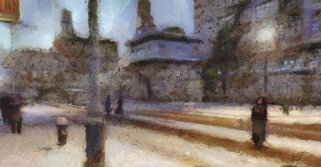 #painterly #digitalart #cityscapes #newimpressionist