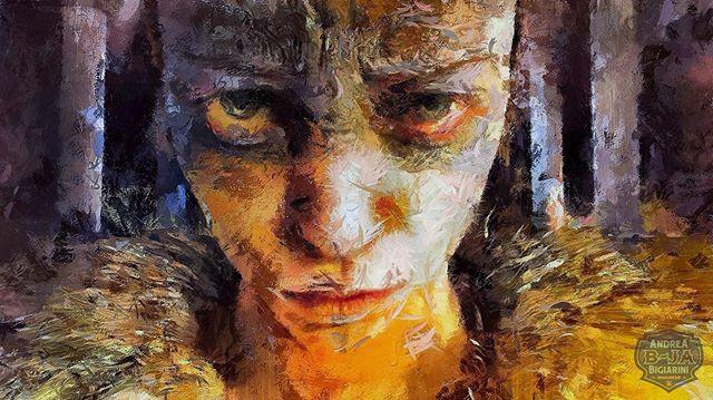 """""""Senua"""" #painterly #digitalart #portait"""