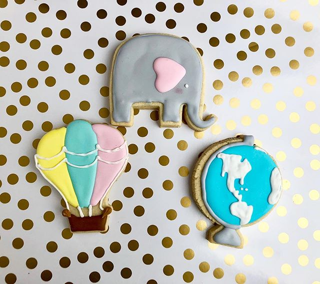 """Our Greatest Adventure"" - A super cute baby shower theme with super cute cookies to match!~ #pastrypaige . . . . . . . . #delicious #dessert #nomnom #yum #cookies #baking #birthday #food #foodie #foodporn #foodgram #foodblogger #pastry #chef #sugarcookies #elephants #instagood #instafood #hotairballoon #photography #photooftheday #picoftheday #smallbusiness #bakery #babyshower"