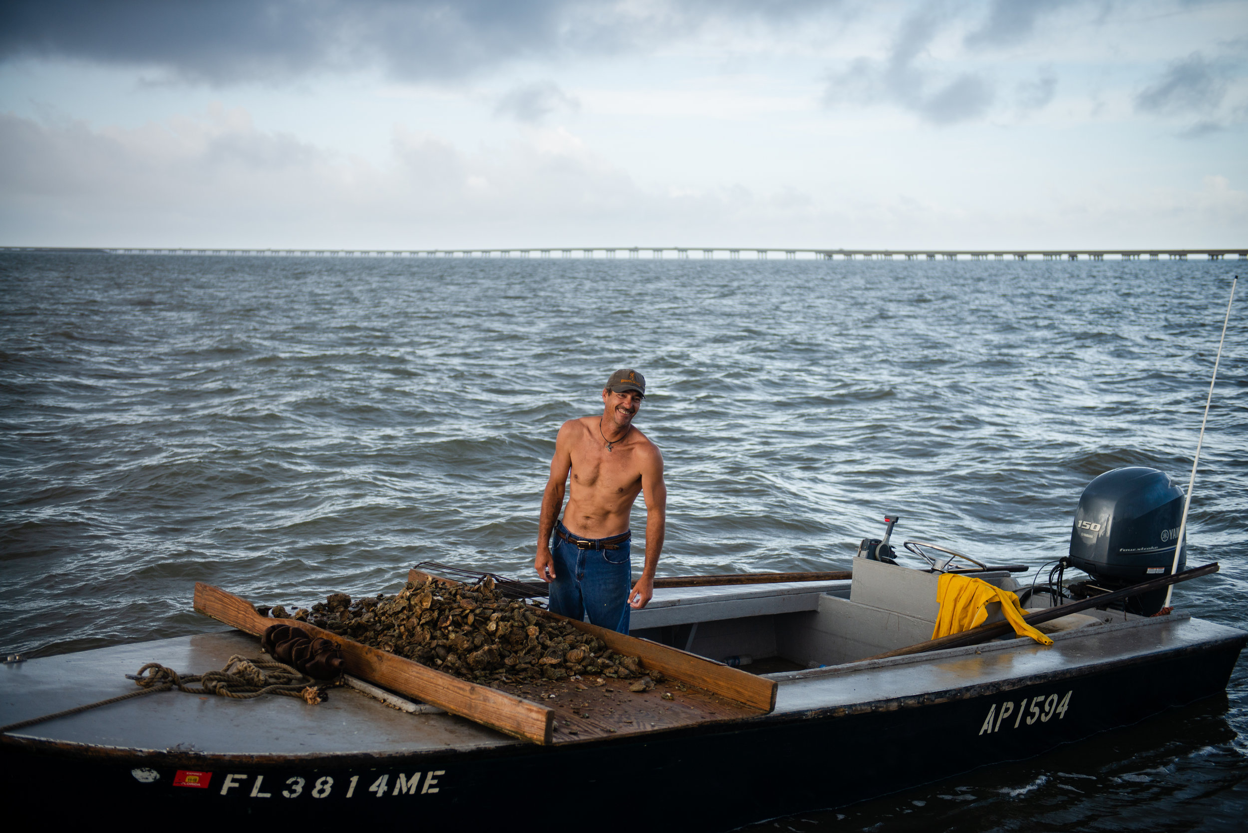 "The Apalachicola Bay used to support well over a hundred full-time oysterman, now there are less than a dozen that go out every day they legally can. Denis Jones of Eastpoint, across the bay from Apalachicola, is one of those. ""I'm the last generation. I'll be there until they tell me I can't do it no more."""