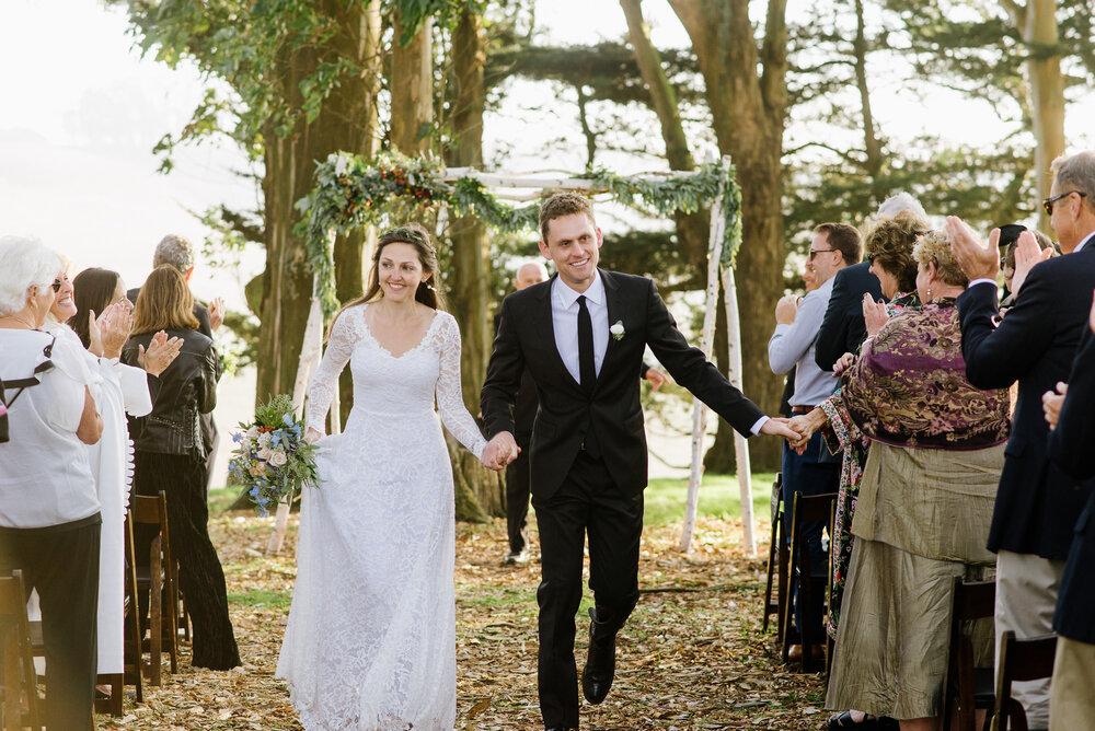 robe de mariée en plein naturel