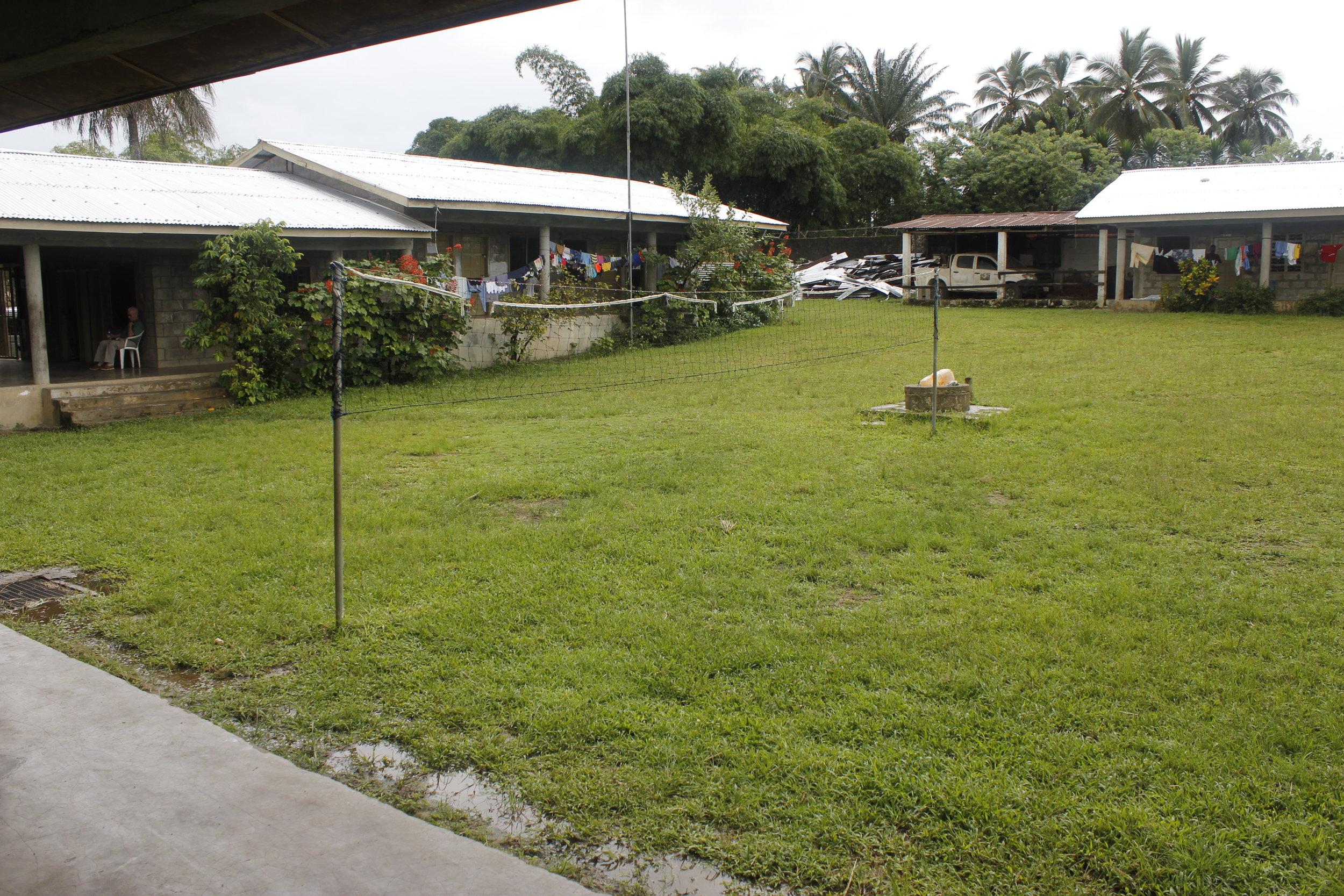 Liberia Mission's Courtyard