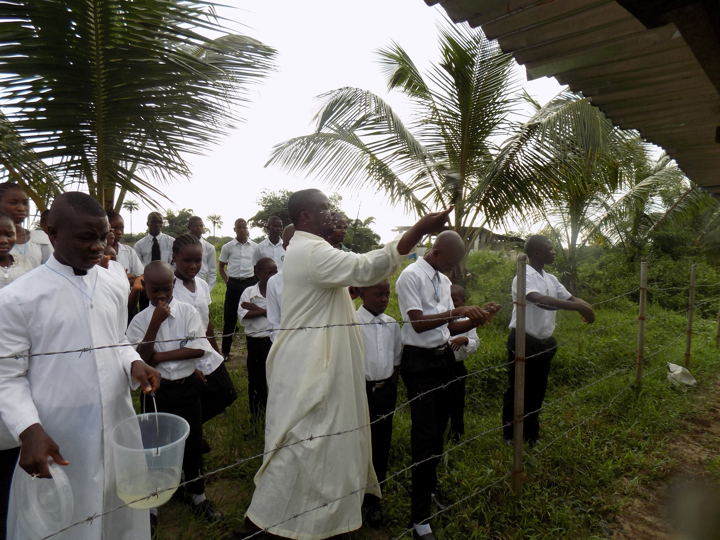 Holy Week celebrated on Liberia Mission in 2014.