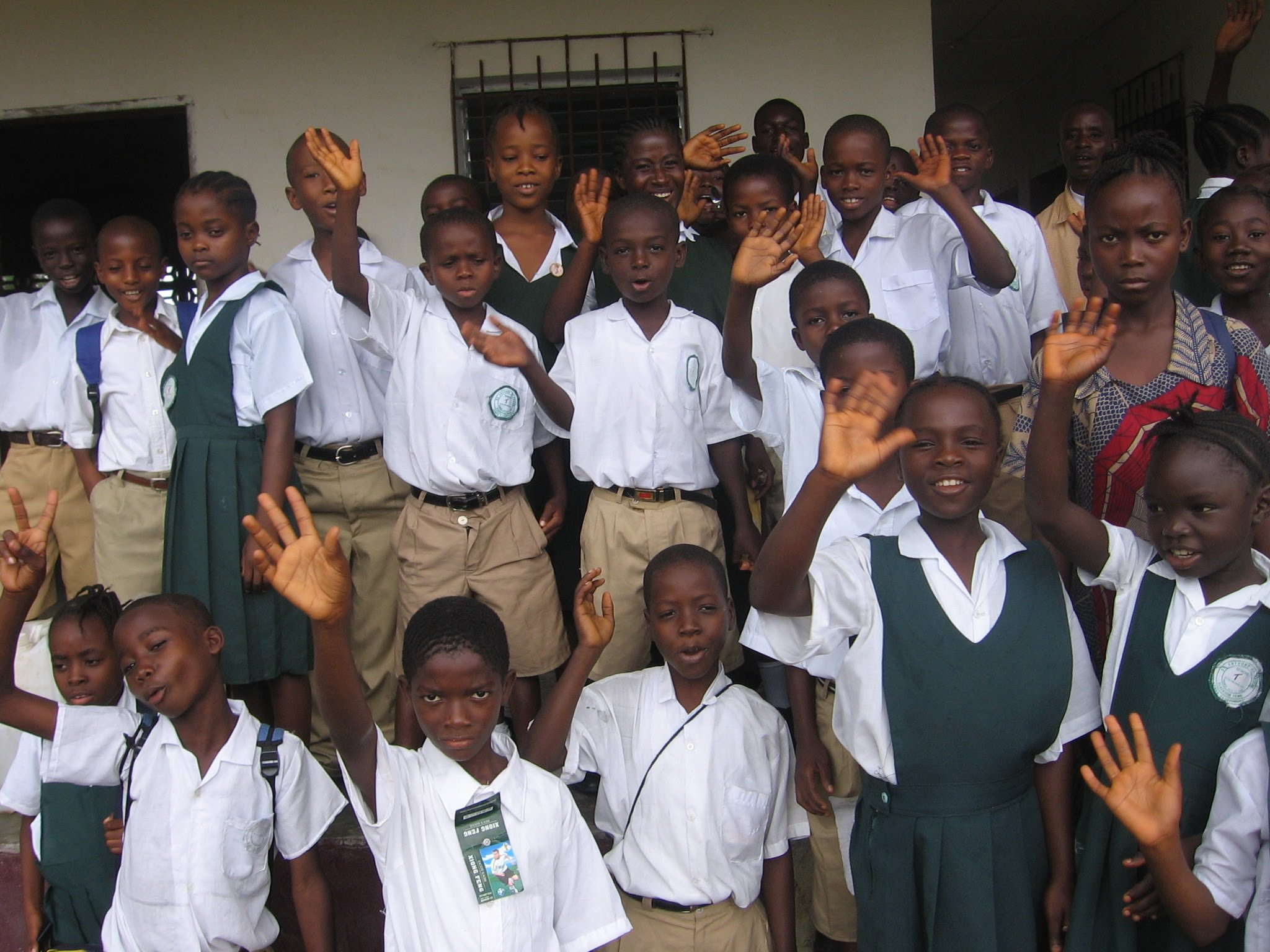 Students gathered in 2008 before school starts.