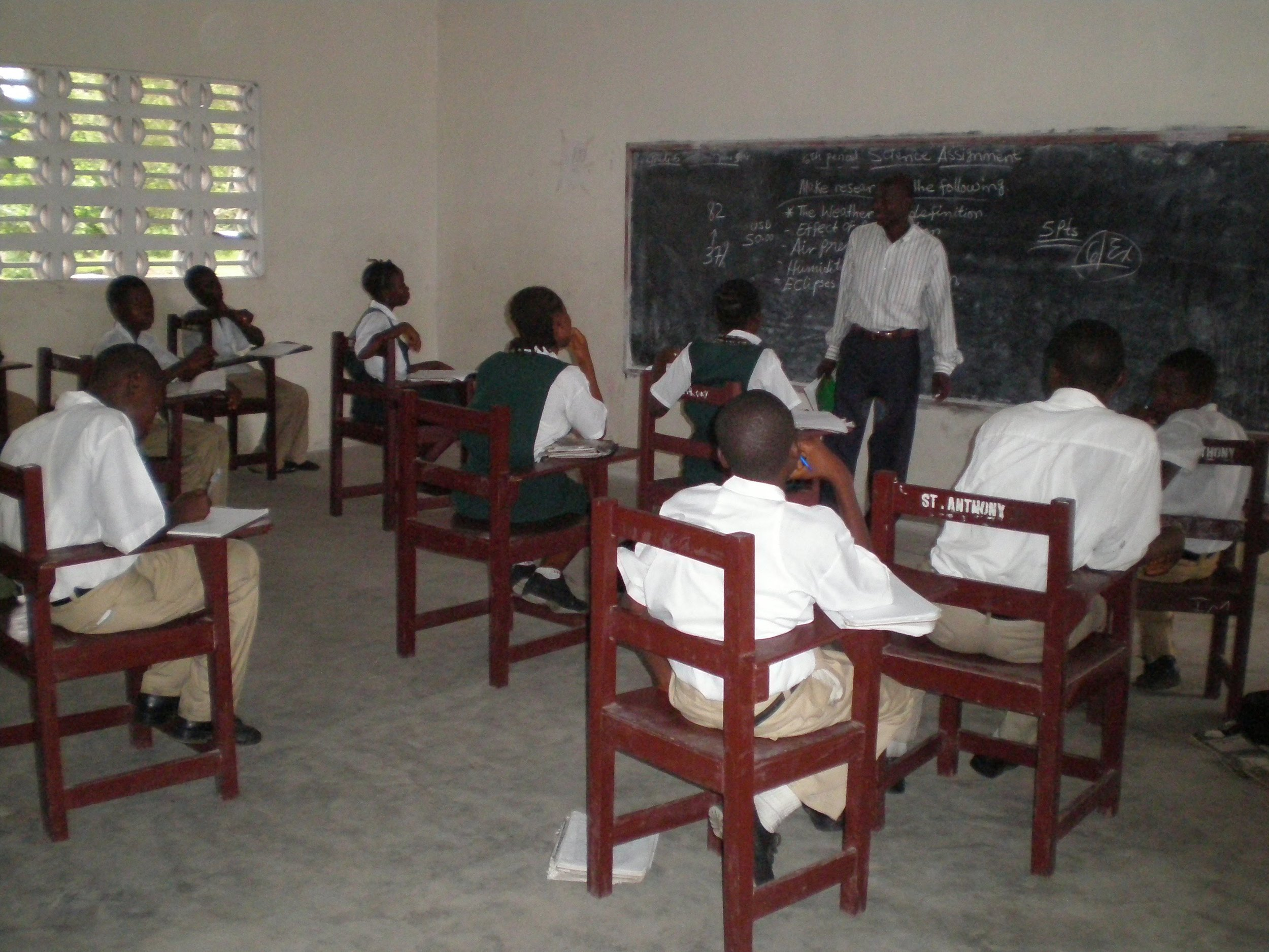 A class at St. Anthony school in 2008.