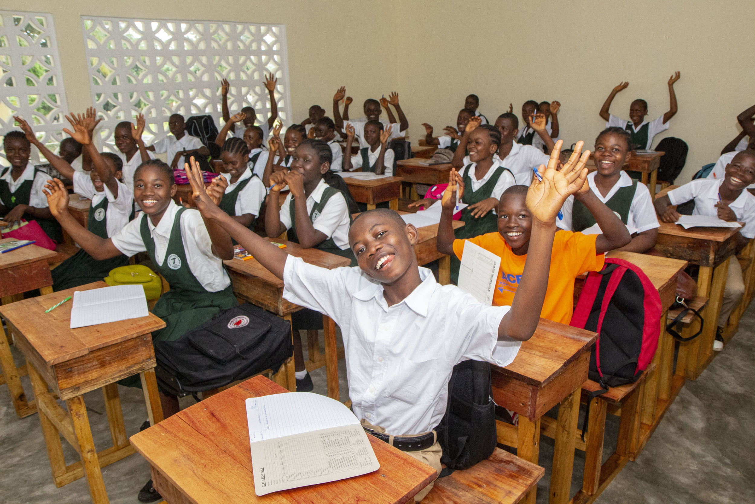 St. Anthony of Padua recently resumed classes, and the students are sooo happy with their new desks!
