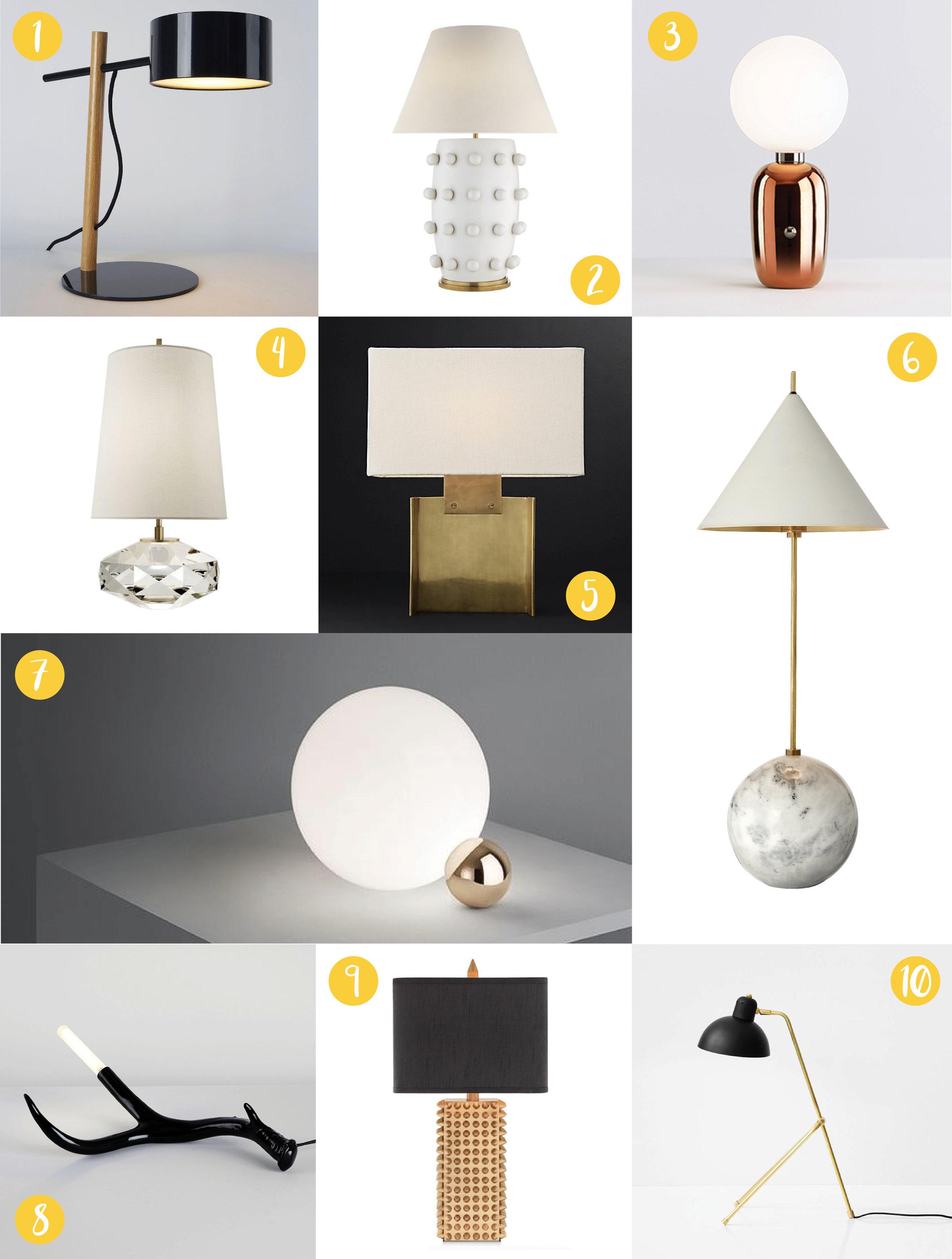 Top 10 Table Lamps, Nyla Free Designs Inc., Calgary Interior Designer