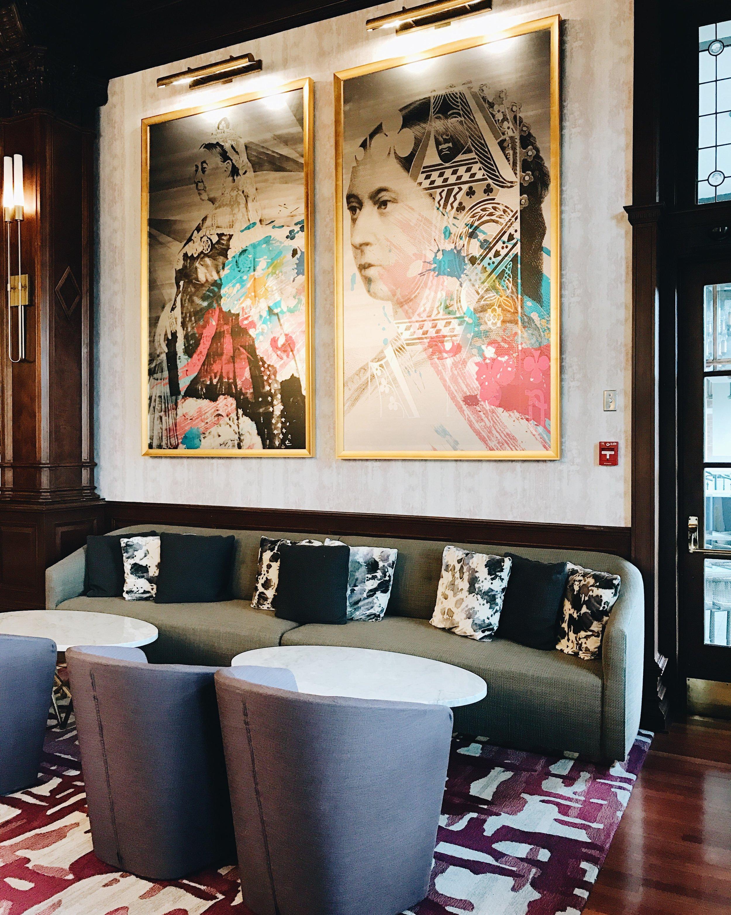 Q at the Empress Hotel, Victoria BC, Nyla Free Designs Inc