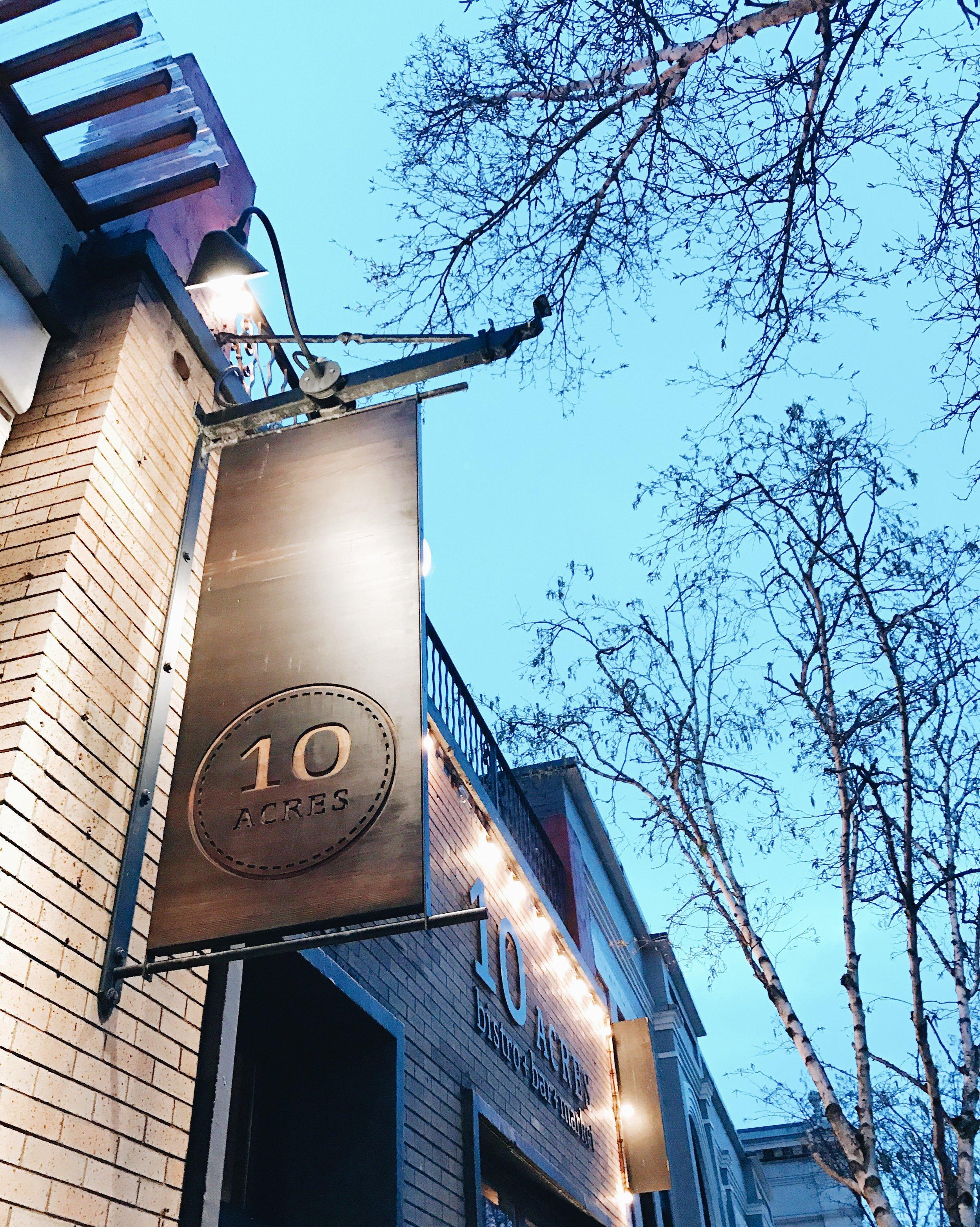 10 Acres Restaurant, Victoria BC, Nyla Free Designs Inc