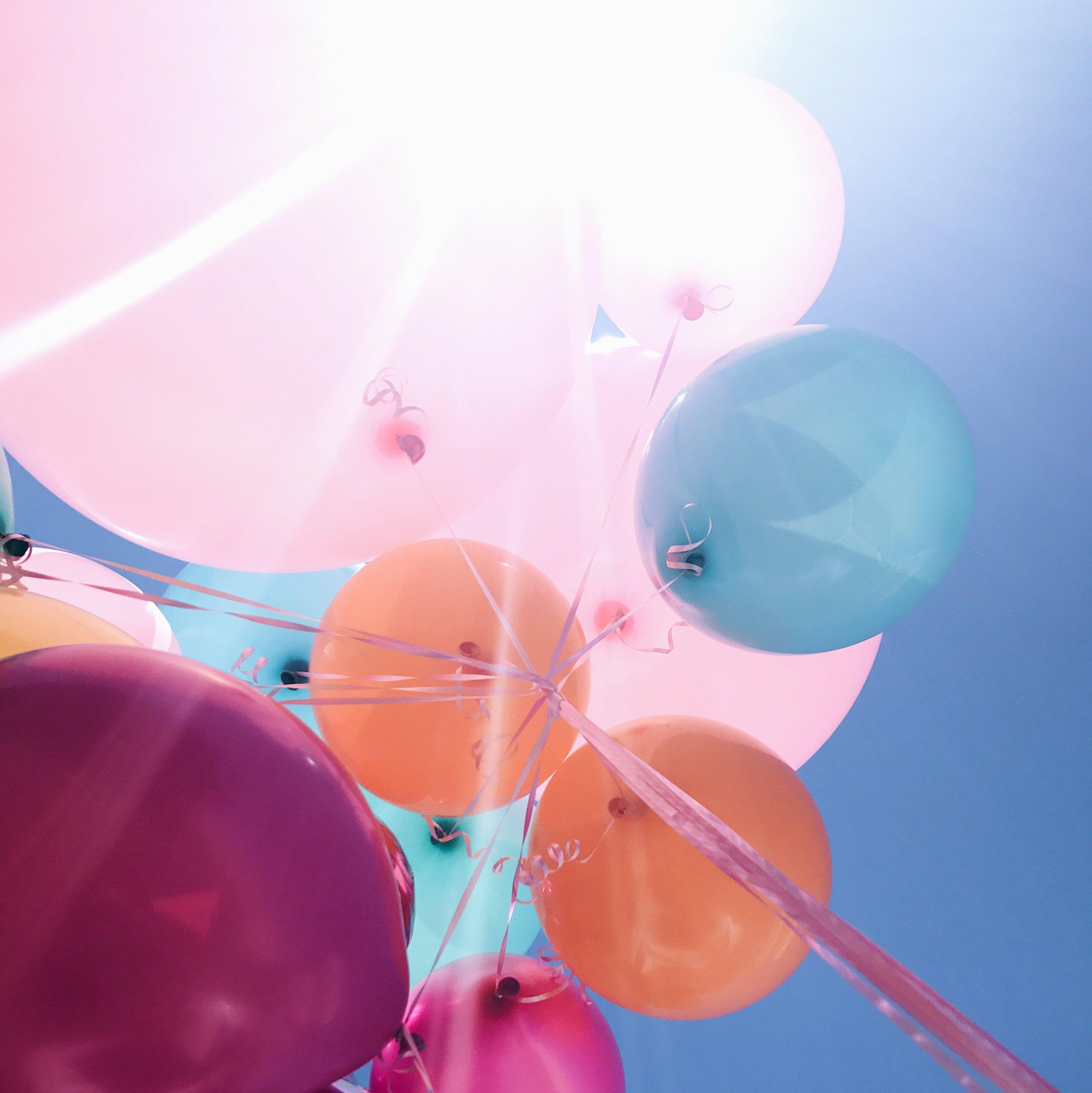 Balloons, Sweet 16, Birthday, Nyla Free Designs Inc.