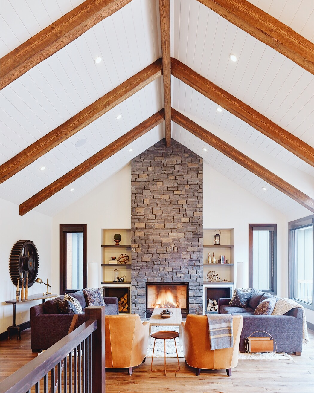 Canmore Mountain Retreat, Living Room, Nyla Free Designs Inc., Calgary Interior Designer
