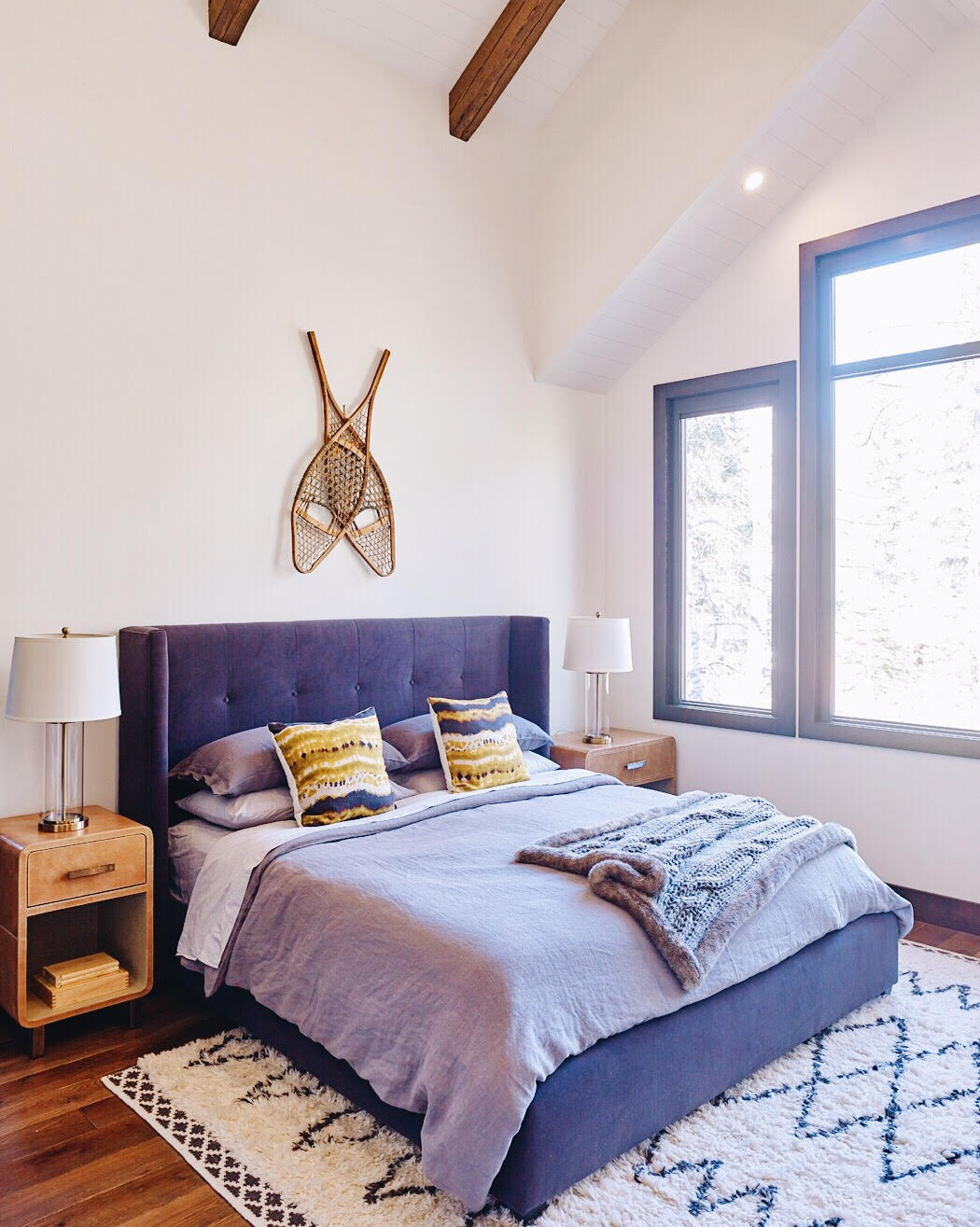 Canmore Mountain Retreat, Master Bedroom, Nyla Free Designs Inc., Calgary Interior Designer