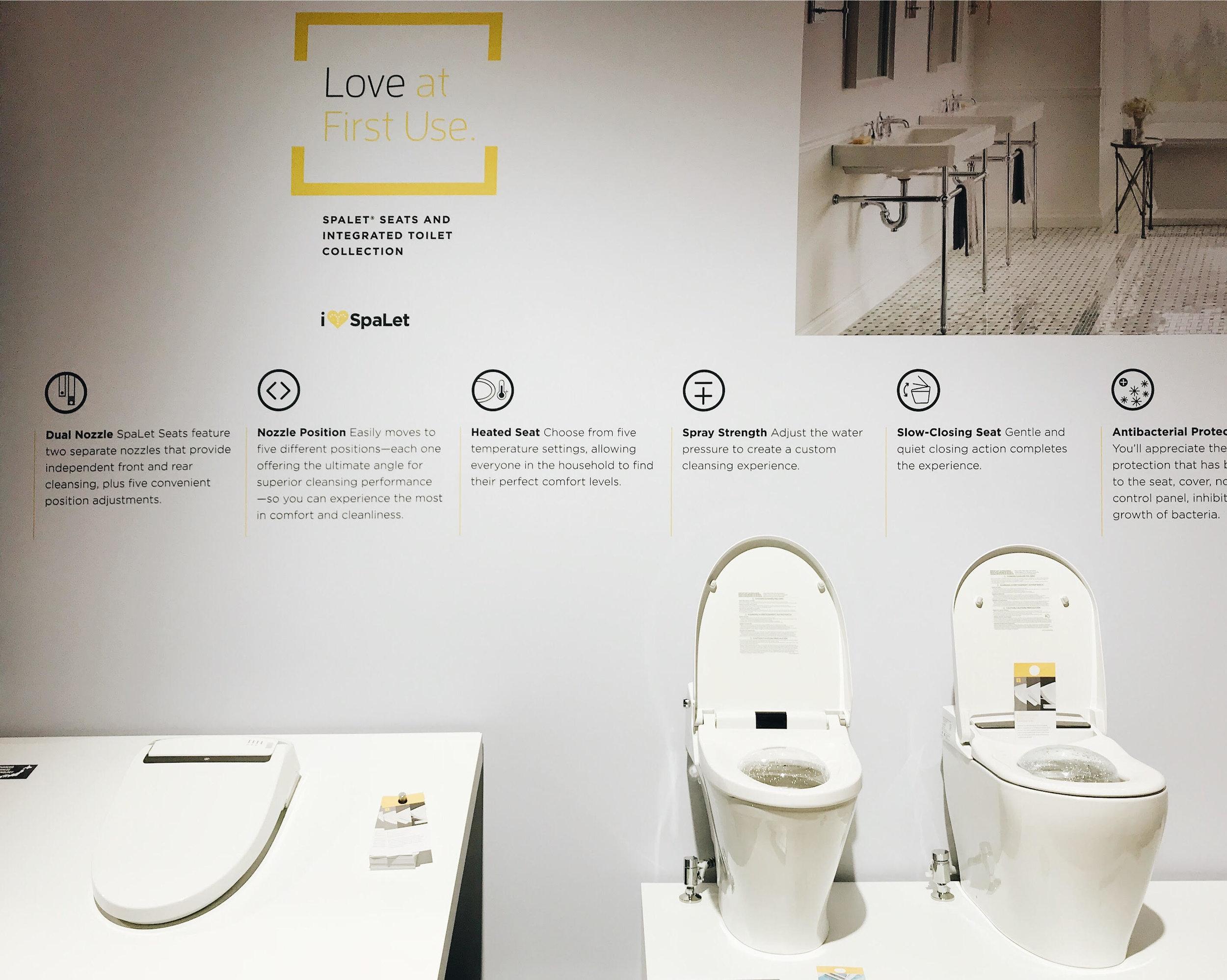 American Standard SpaLet Luxury Smart toilet, KBIS 2018, Bathroom Trends, BlogTour, Nyla Free Designs, Calgary Interior Designer, #designhounds