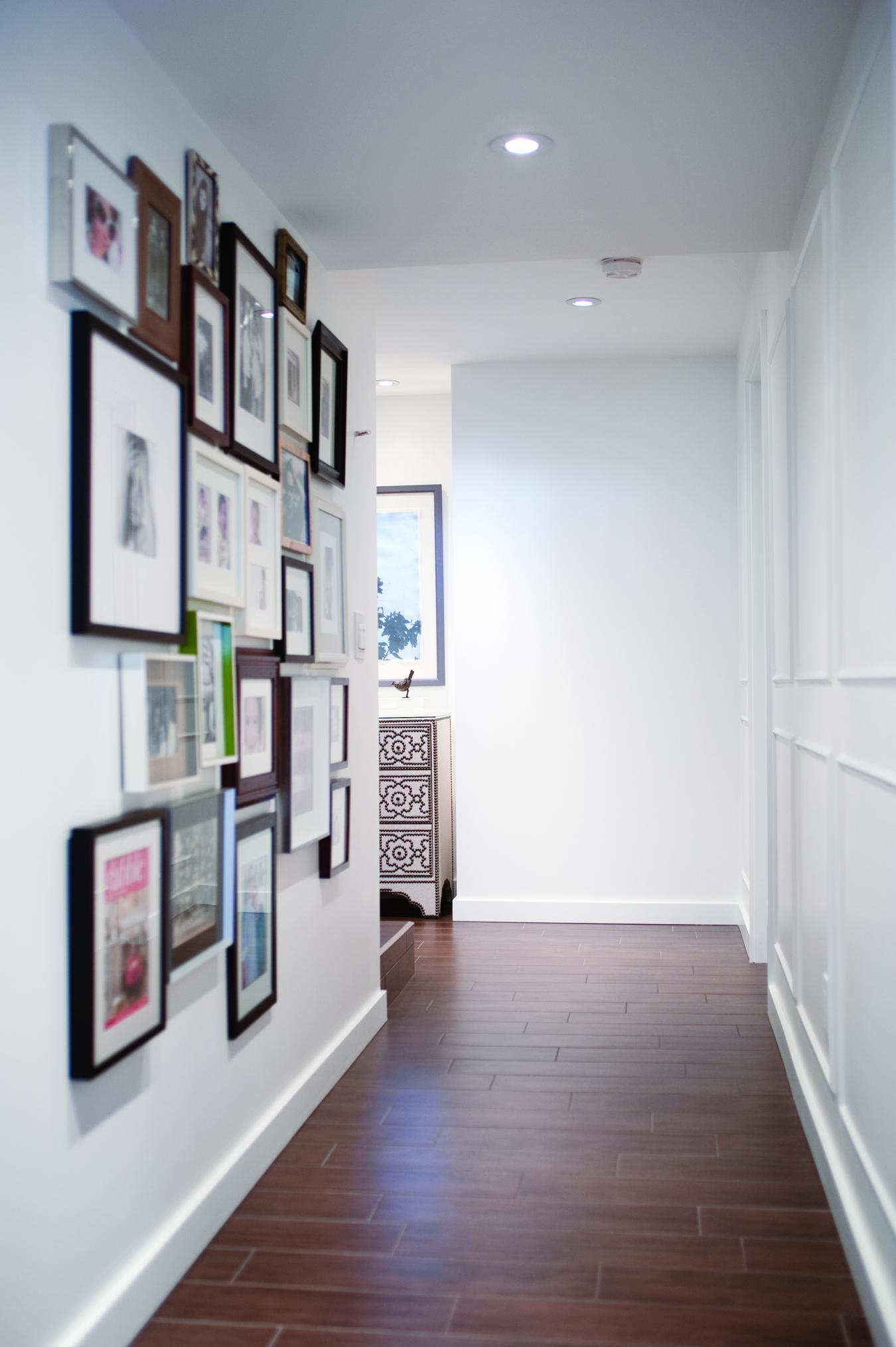 Hallway Gallery Wall, Nyla Free Designs, Calgary Interior Designer, Photo: Jared Sych