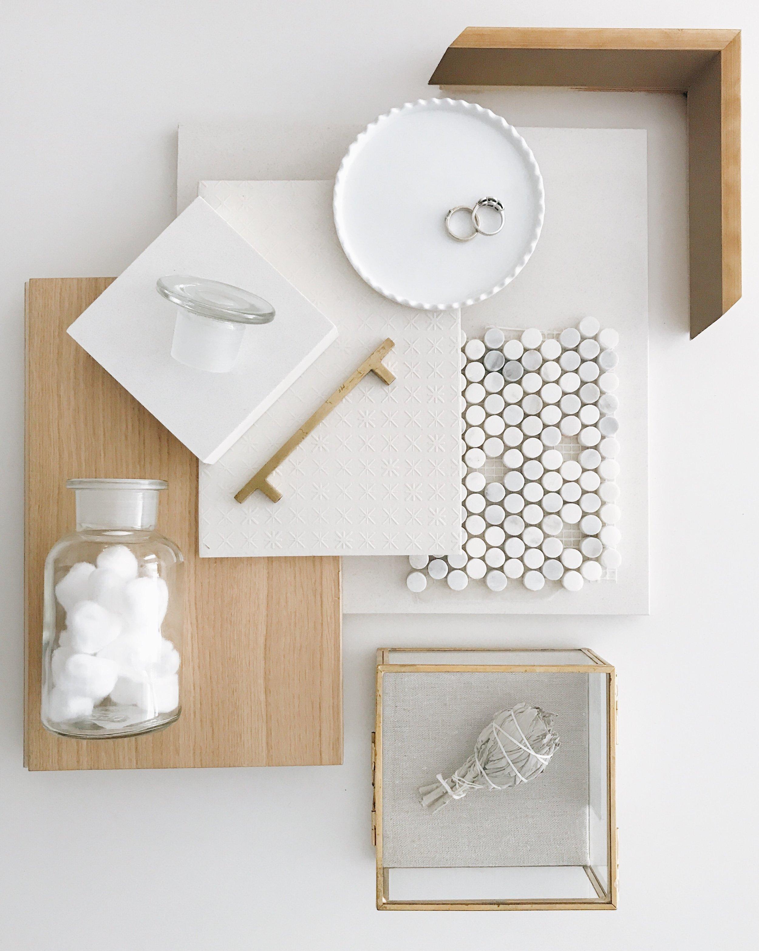 Modern White Bathroom, Nyla Free Designs, Calgary Interior Designer