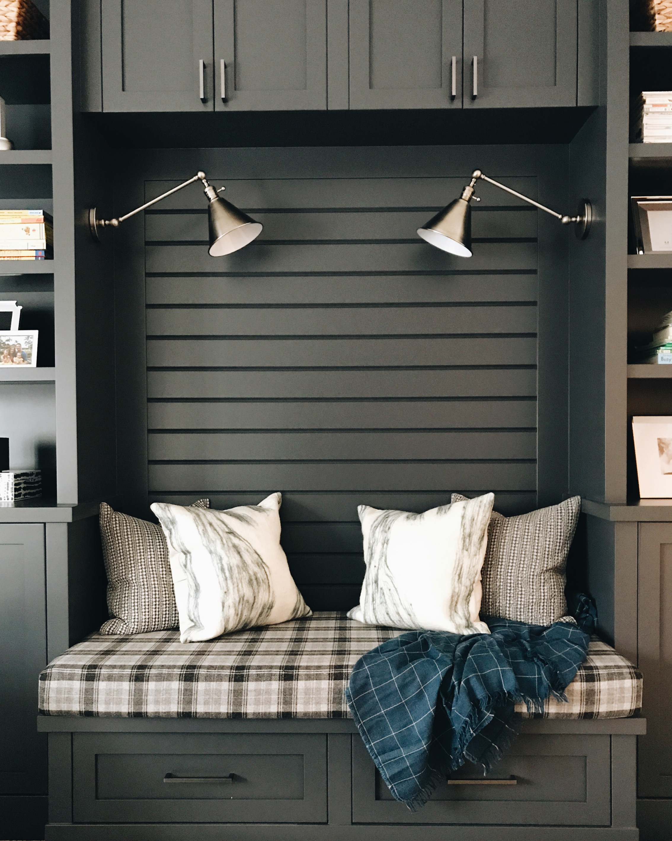 Family Reading Room, Nyla Free Designs, Calgary Interior Designer, Veranda Estate Homes.