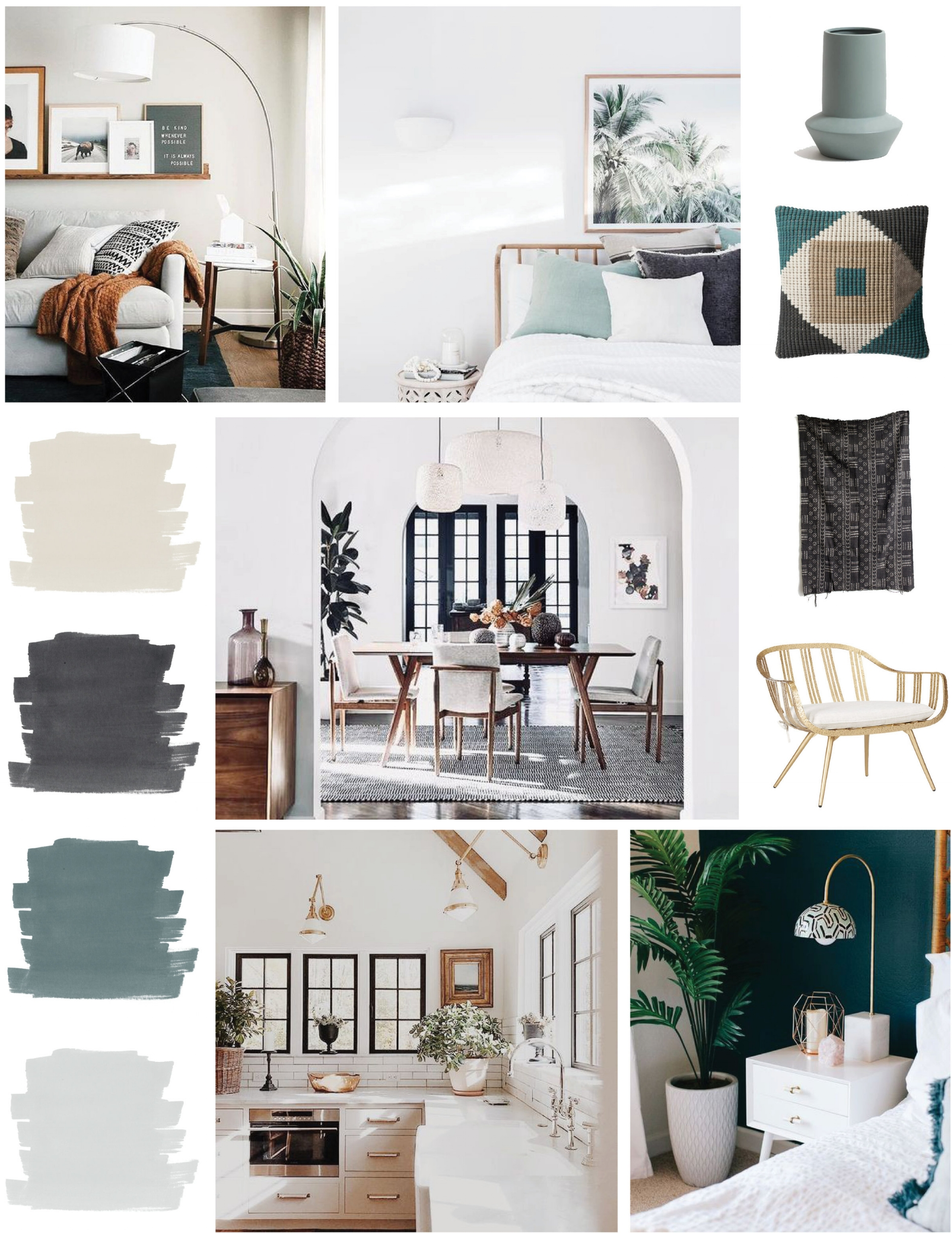 SOURCES:   Chair   |   Mudcloth   |   Cushion   |   Vase     |     Dining Room     |     Bottom Bedroom Photo   |   Inspiration Images: Unknown Sources